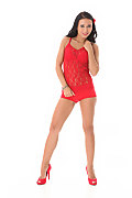 Bailey Ryder Racy In Red istripper model