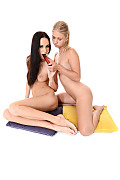 Violette Pink & Eveline Neill Duo istripper model
